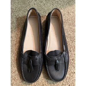 Chanel Leather Moccasin Driving Shoes